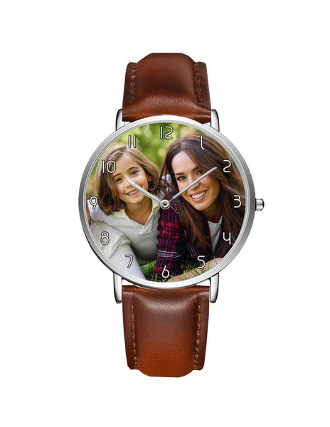 Your Custom Photo / Image Designed Leather Strap Watches