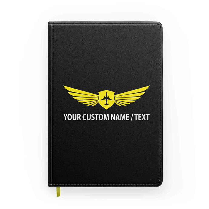 Customizable Badge (2) & Name Designed Notebooks