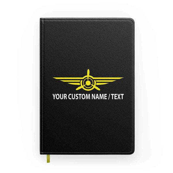Customizable Badge (3) & Name Designed Notebooks