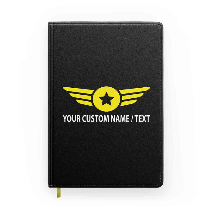 Customizable Badge (4) & Name Designed Notebooks