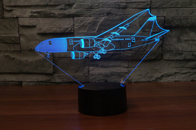 Beautiful Boeing 787 Dreamliner Designed 3D Lamp