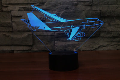 Turning Boeing 747 Designed 3D Lamp