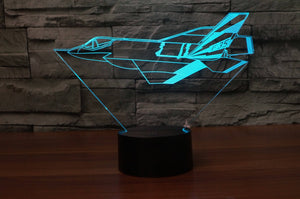 Cruising Fighting Falcon F35 Designed 3D Lamp Aviation Shop