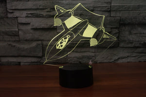 Amazing Bomber Aircraft Designed 3D Lamp Aviation Shop