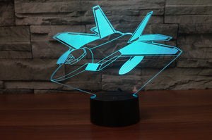 Very Detailed Fighting Falcon F35 Designed 3D Lamp Aviation Shop