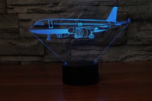 Very Detailed Airbus A320 Designed 3D Lamp Aviation Shop
