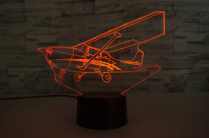 Cessna 172 Skyhawk Designed 3D Lamp Aviation Shop