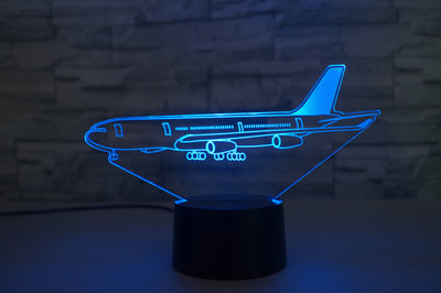 Airbus A340 From Side Designed 3D Lamp