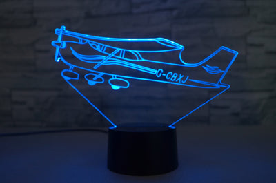 Beautiful Cessna Skyhawk Designed 3D Lamp