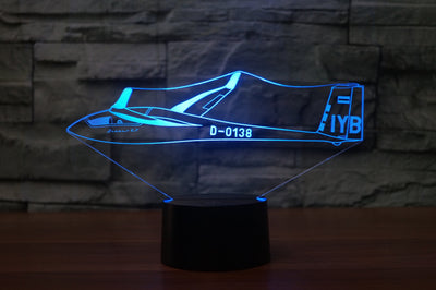 Cruising Glider Designed 3D Lamps