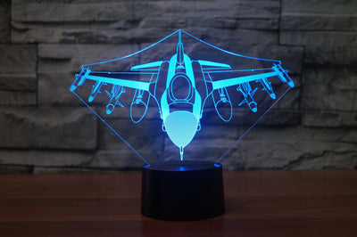 Fighting Falcon F16 Designed 3D Lamps