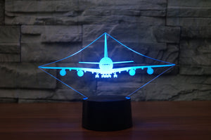 Airbus A380 Designed 3D Lamps Pilot Eyes Store