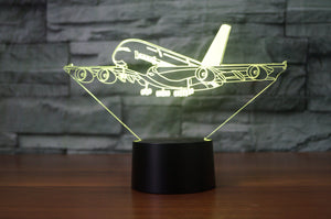 Departing Airbus A380 Designed 3D Lamps Pilot Eyes Store