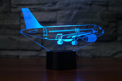Taxiing Airbus A320 Designed 3D Lamps