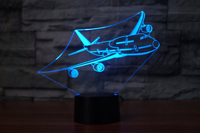Cruising Boeing 747 Designed 3D Lamps
