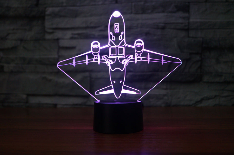 Taking Off Aircraft Designed 3D Lamps Pilot Eyes Store