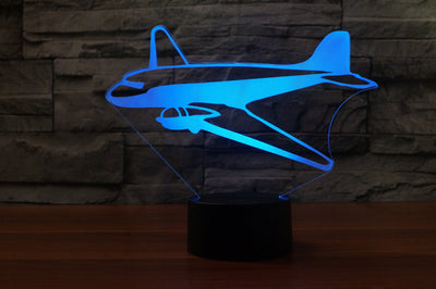 Old Style Airplane Designed 3D Lamps