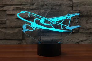 Amazing Silhouette of Airbus A320 Designed 3D Lamps Pilot Eyes Store
