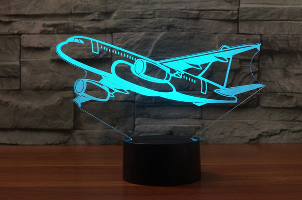 Amazing Silhouette of Airbus A320 Designed 3D Lamps