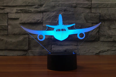 Face to Face with Airliner Jet Designed 3D Lamps