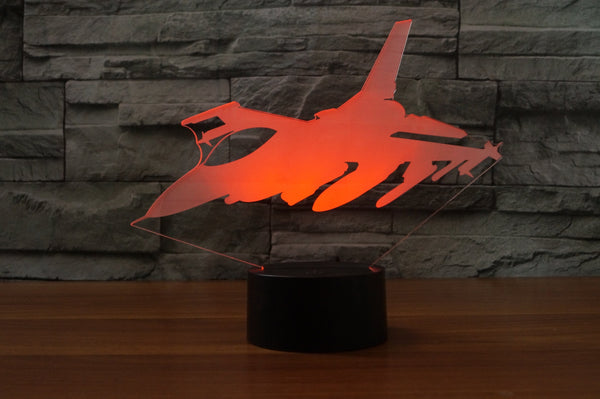 Amazing Fighter Jet Designed 3D Lamps