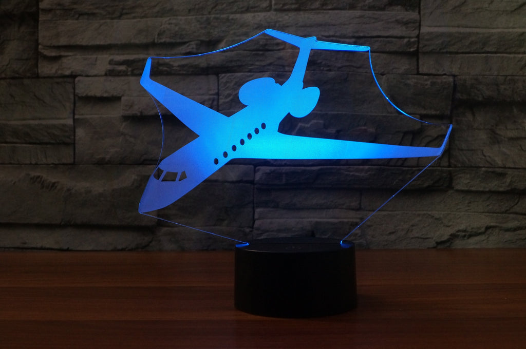 Amazing Business Jet Designed 3D Lamps