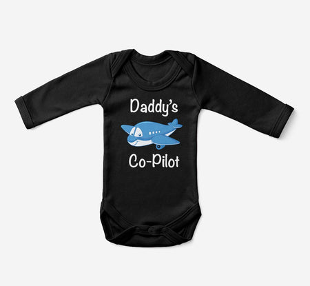 Daddy's Co-Pilot (Jet Airplane) Designed Baby Bodysuits