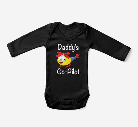 Daddy's Co-Pilot (Helicopter) Designed Baby Bodysuits