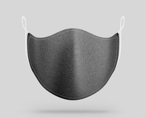 Dark Gray Jeans Texture Designed Face Masks