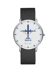 Bombardier Dash-8 Stainless Steel Strap Watches Pilot Eyes Store Silver & Silver Stainless Steel Strap