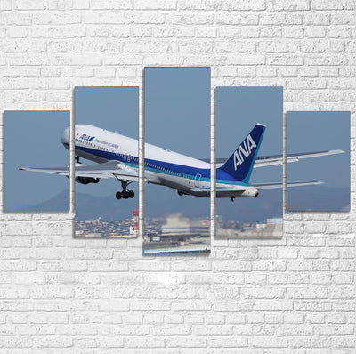 Departing ANA's Boeing 767 Printed Multiple Canvas Poster