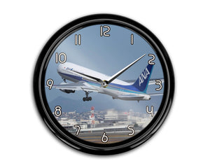 Departing ANA's Boeing 767 Printed Wall Clocks Aviation Shop