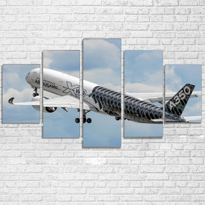 Departing Airbus A350 (Original Livery) Printed Multiple Canvas Poster