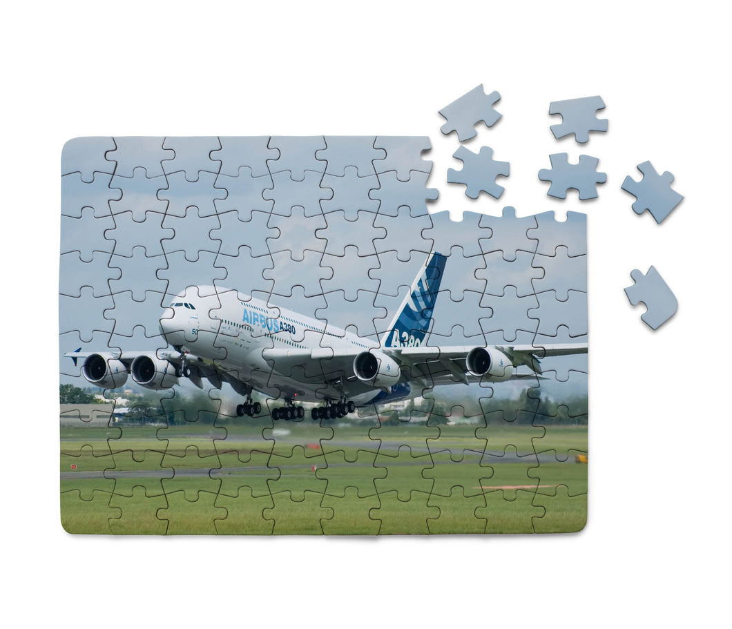 Departing Airbus A380 with Original Livery Printed Puzzles Aviation Shop