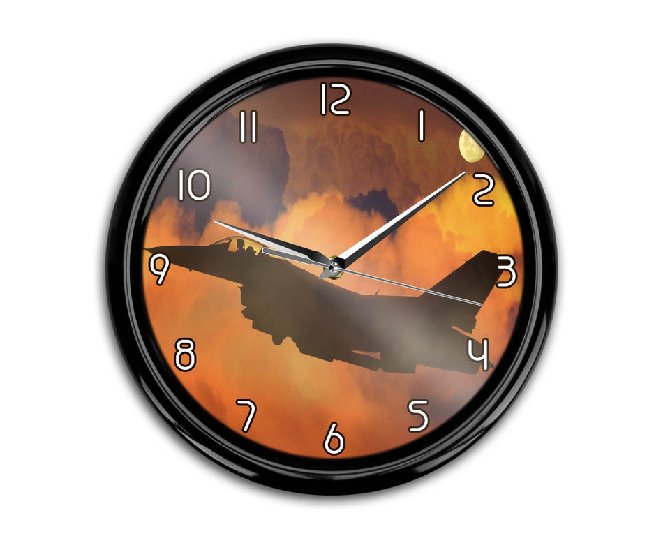 Departing Fighting Falcon F16 Printed Wall Clocks Aviation Shop
