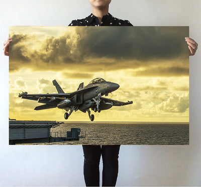 Departing Jet Aircraft Printed Posters