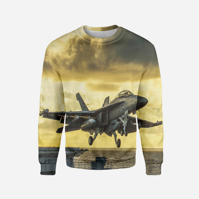 Departing Jet Aircraft Printed 3D Sweatshirts