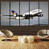 Departing Lufthansa's A380 Printed Canvas Prints (5 Pieces) Aviation Shop