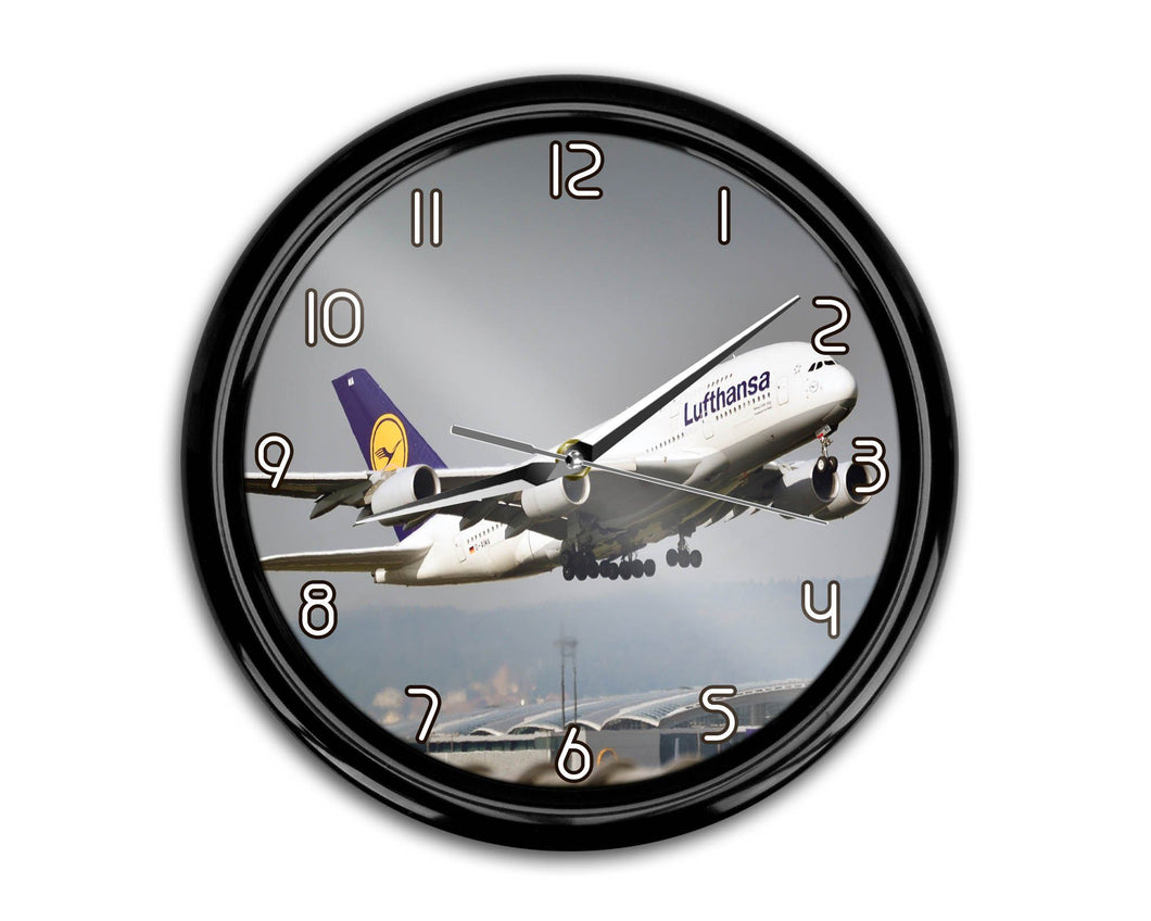 Departing Lufthansa's A380 Printed Wall Clocks Aviation Shop