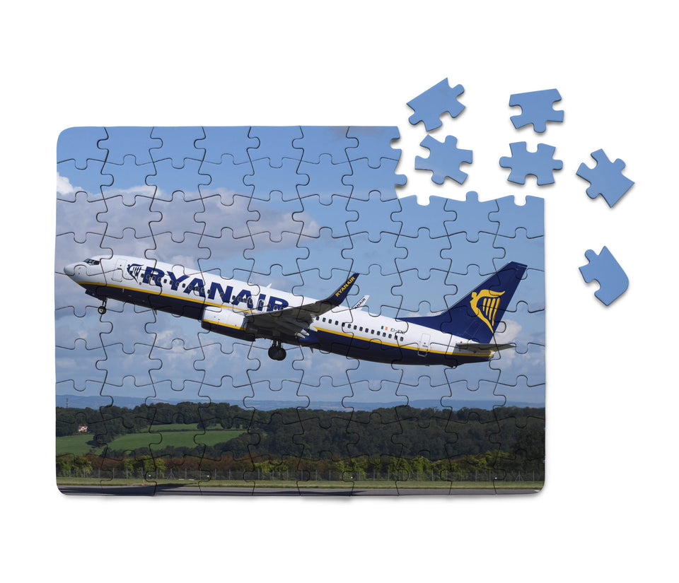 Departing Ryanair's Boeing 737 Printed Puzzles Aviation Shop