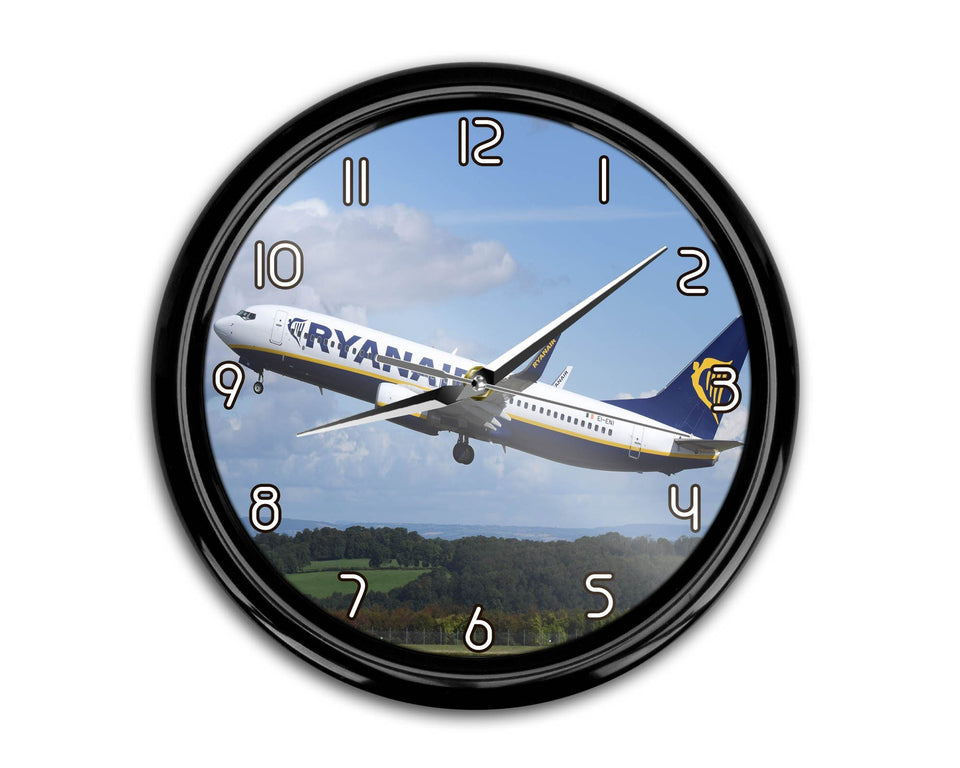 Departing Ryanair's Boeing 737 Printed Wall Clocks Aviation Shop