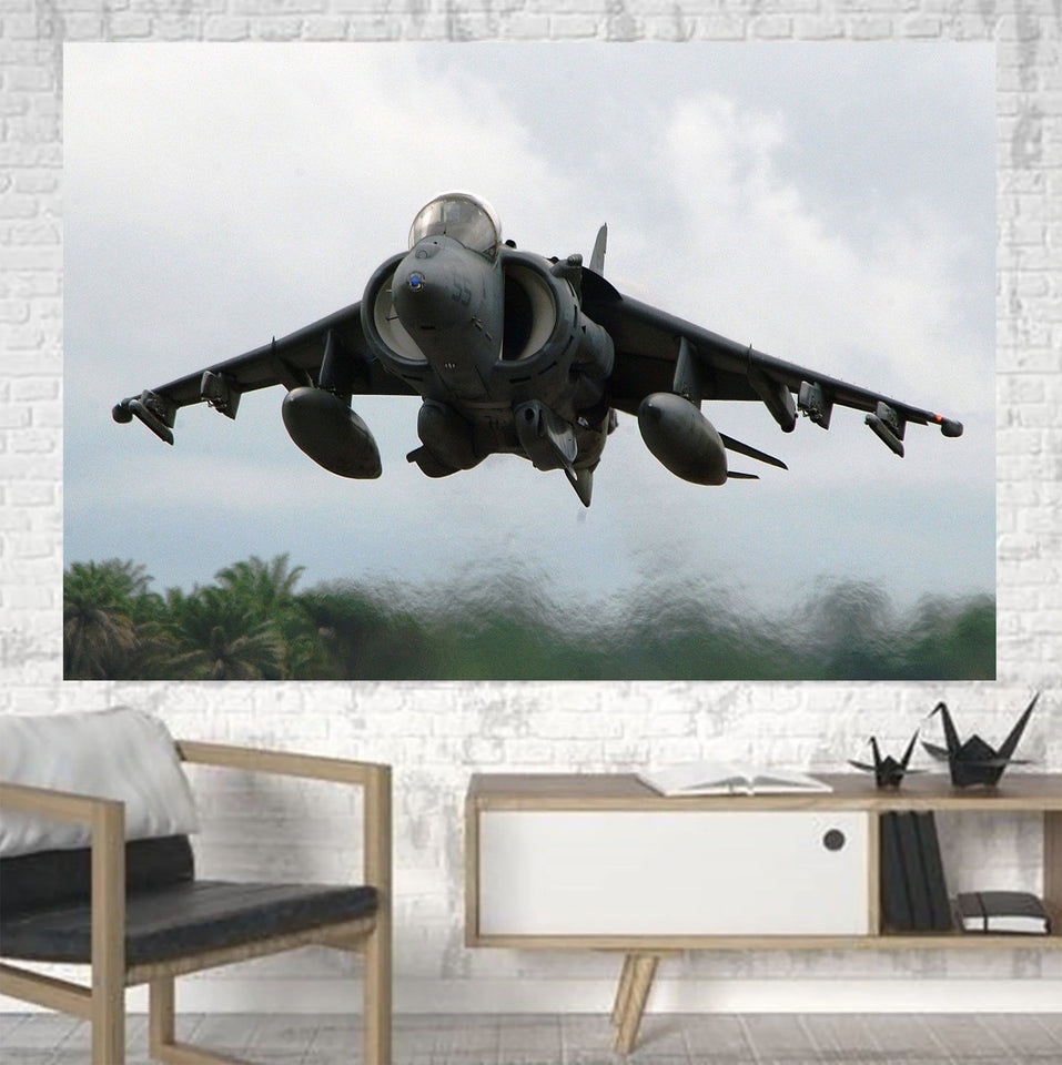 Departing Super Fighter Jet Printed Canvas Posters (1 Piece) Aviation Shop