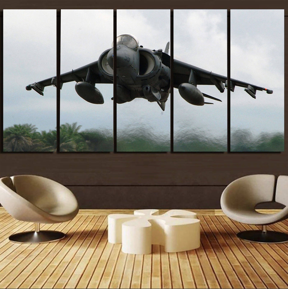 Departing Super Fighter Jet Printed Canvas Prints (5 Pieces) Aviation Shop