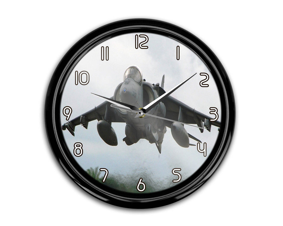 Departing Super Fighter Jet Printed Wall Clocks Aviation Shop