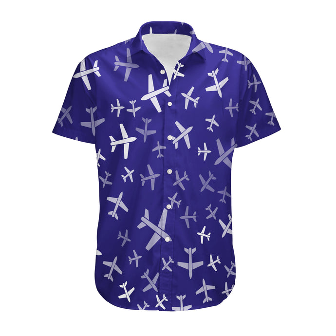 Different Sizes Seamless Airplanes Designed 3D Shirts