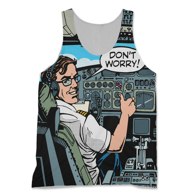 Don't Worry Thumb Up Captain Designed 3D Tank Tops
