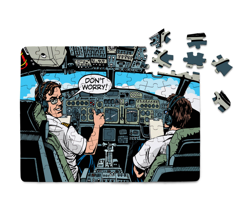 Don't Worry Thumb Up Captain Printed Puzzles Aviation Shop
