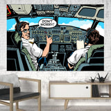 Don't Worry Thumb Up Captain Printed Canvas Posters (1 Piece) Aviation Shop
