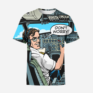 Don't Worry Thumb Up Captain Printed T-Shirts