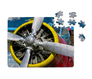 Double-Decker Airplane's Propeller Printed Puzzles Aviation Shop